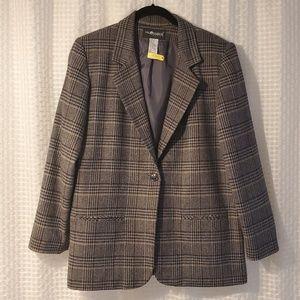 Jackets & Blazers - Sag Harbor VintagePetite 10 Plaid Blazer